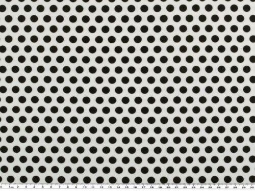 Baumwoll-Jersey schwarz auf weiß 150cm Punkte