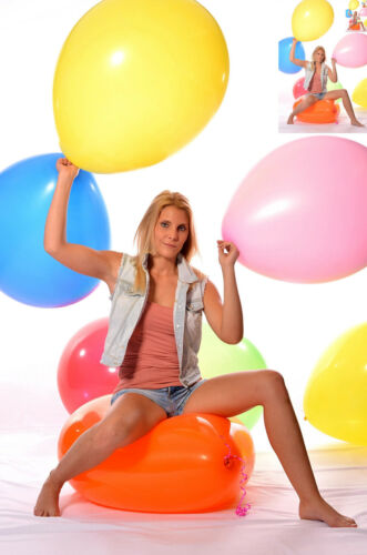 "28/""// 220er 3x 70cm Ø Ballon BUNT weich * Luftballon 3x 28/"" Riesen Riesen"