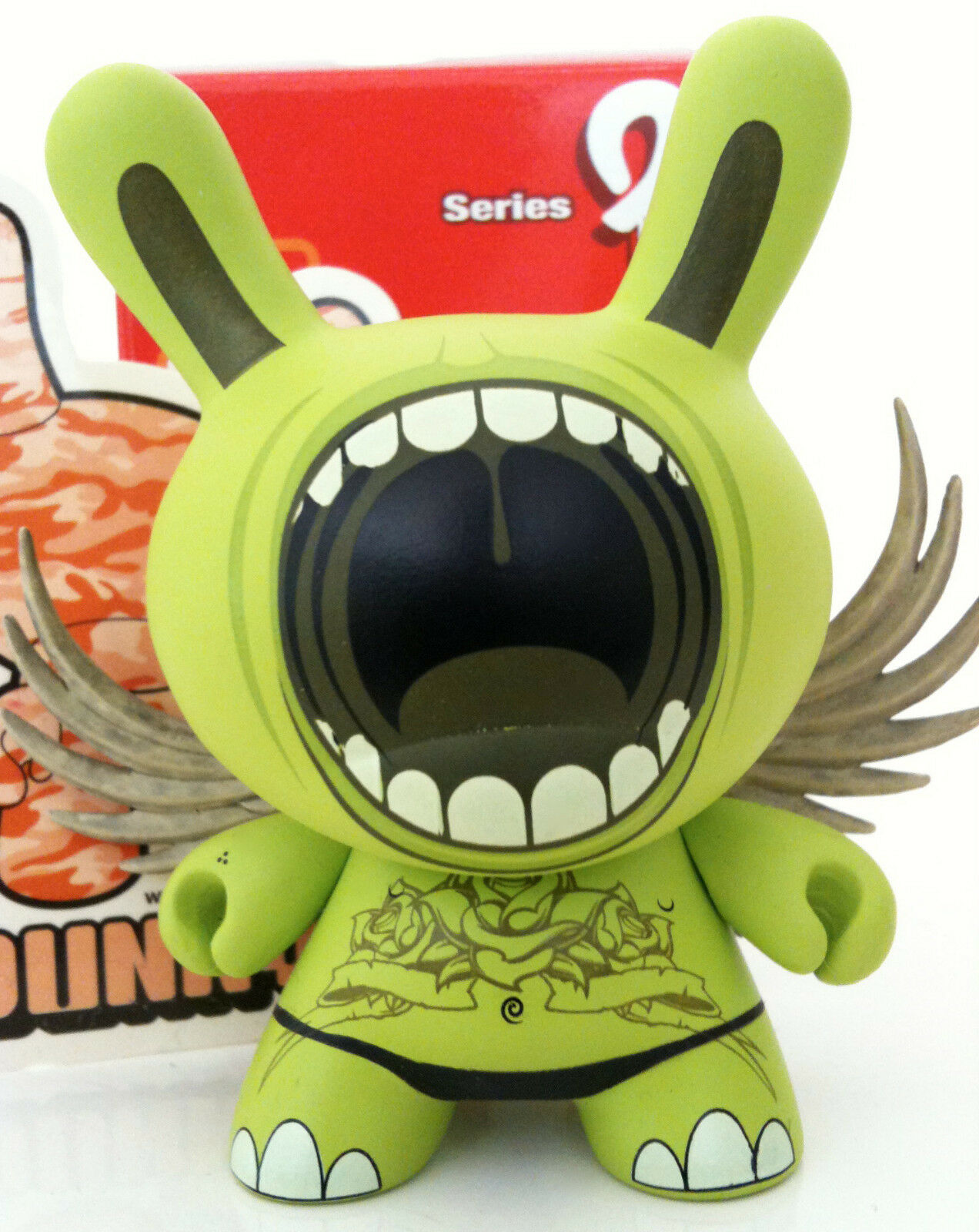 DUNNY 3  SERIES 2 DEPH BIG MOUTH WINGS CHASE 1 48 KIDROBOT 2006 TOY FIGURE NEW