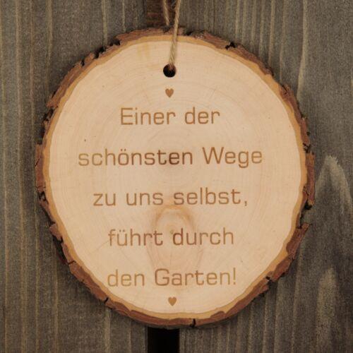 """/"""" Geschenkidee Geschenk Garten Deko Baumscheibe /""""Einer der schönsten Wege ..."""
