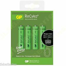 4 AAA GP Rechargeable 400 mAh recyko Batteries 400mAh (1 x 4 pack)