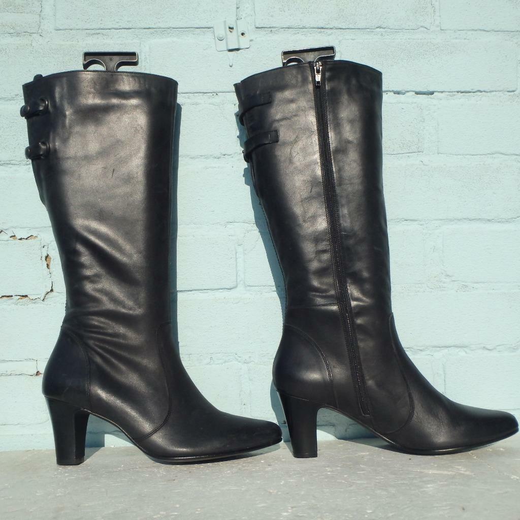Nuevas botas de cuero Jones the botamaker Talla botas para mujer Negro teagun