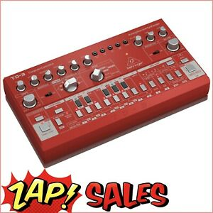 Behringer TD-3-RD Analog Bass Line Synthesizer, VCO, VCF, 16-Step, Red
