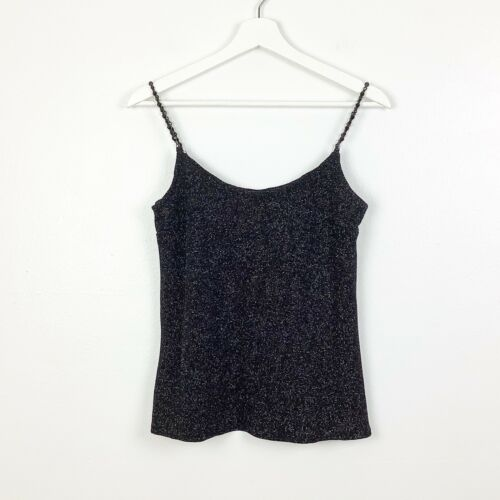 Jessica McClintock Vintage Black Shimmer Beaded S… - image 1