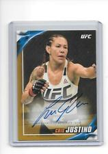 2019 Topps UFC Knockout Cris Cyborg Justino Gold Auto Autograph 1/1