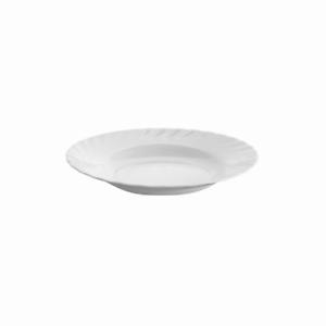 Lot-De-6-Assiettes-Creuse-Soupe-En-Verre-22cm-Blanc-Durable-pour-Restauration