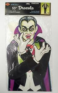 Vintage Beistle 53in Jointed Dracula 01152 Halloween Decorations 1990 NOS