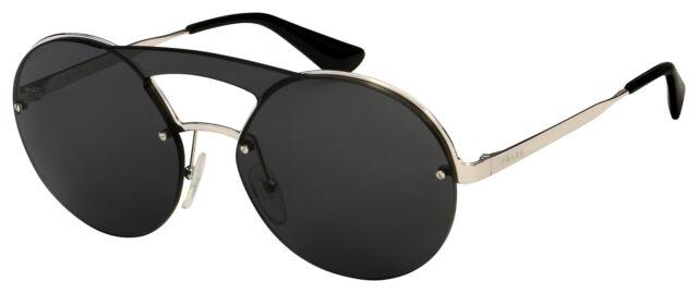 d772f6c5703b PRADA Japan Sunglasses Gold Titanium Frame Spr 59d 5ak-7h1 Silver Single  Lens for sale online | eBay