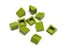 4540385 Lego Dachstein 18° 2x1 x 2//3 mit Gitter Mittellindgrün 10 Stück