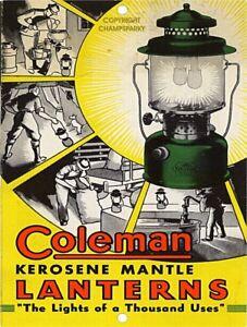 COLEMAN-Kerosene-Mantle-Lanterns-9-034-x-12-034-Sign
