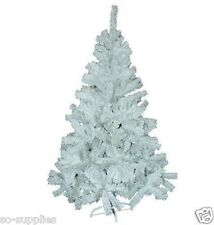 TRADITIONAL WHITE 6FT CHRISTMAS TREE ARTIFICIAL INDOOR PINE XMAS TREES 480 TIPS