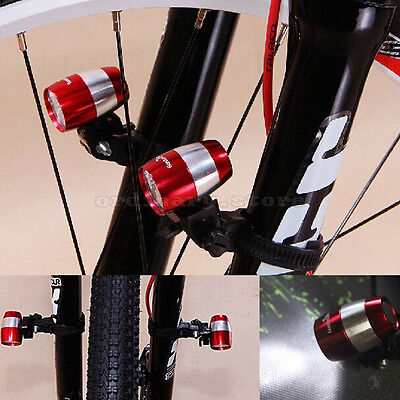 2X Bicycle Bike Cycling 6 LED Strobe Headlight Front Rear Tail Safety Light Lamp
