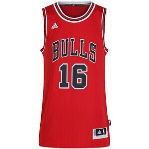 a0a95c5f66e adidas CHICAGO BULLS PAU GASOL 16 RED SWINGMAN +2 NBA BASKETBALL XS ...