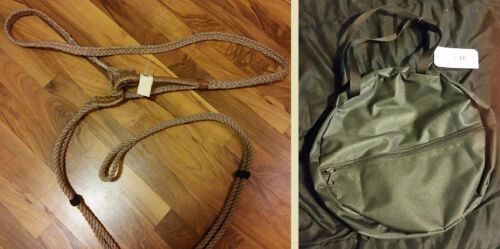 rodeo-Mutton Busting-rodeo-junior-A 7/' Full-lace Sheep Rope /& OPTIONAL gear bag