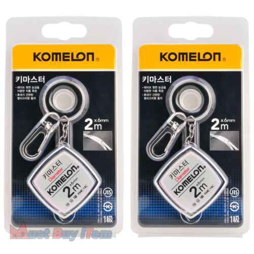 KOMELON Key Master Chain Ring Mini Tape Measure Rulers Measuring Tool Holder 2M