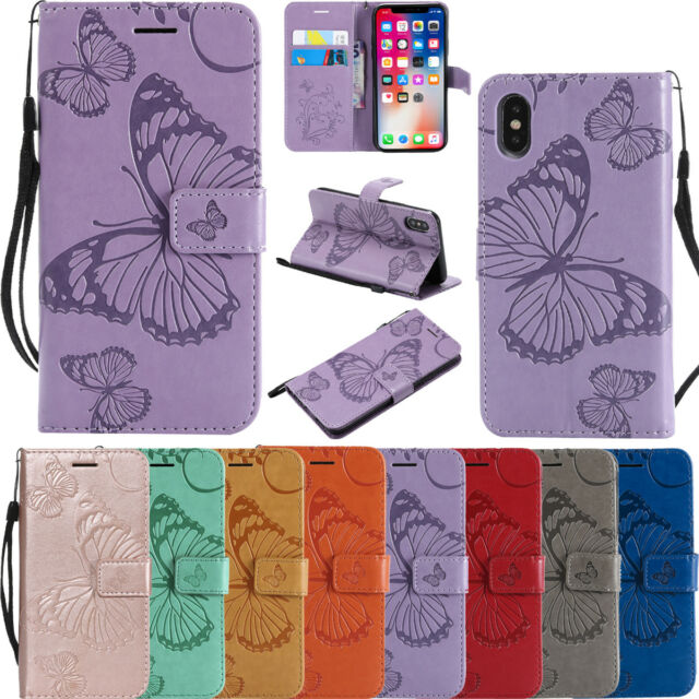 For Sony & Nokia& iPhone Case Luxury Magnetic Flip PU Leather Wallet Stand Cover
