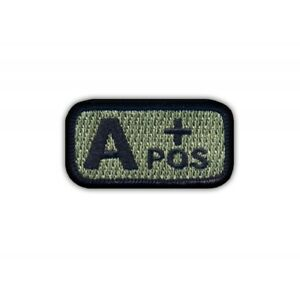 """Blood type A /""""pos/"""" acu-foliage Embroidered PATCH//BADGE"""