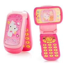 For Hello Kitty Kids Girls Music Mobile Cell Phone Plastic Toy Model c/w Sticker