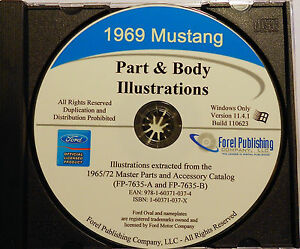 s l300 1969 ford mustang mach 1 gt boss 302 429 exploded view parts list
