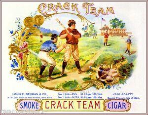 Tampa Florida Swann Swan Smoke Vintage Cigar Box Crate Inner Label Art Print