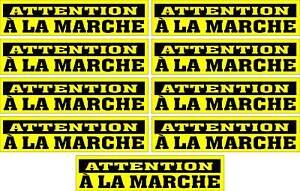LOT-DE-9-AUTOCOLLANTS-LUSTRE-ATTENTION-A-LA-MARCHE-POUR-INTERIEUR-OU-EXTERIEUR