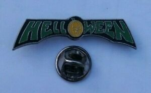 HELLOWEEN-HEAVY-METAL-BAND-VTG-1989-ENAMEL-PIN-BADGE