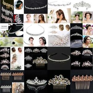 Bridal-Wedding-Crystal-Hair-Comb-Diamante-Slides-Hair-Clip-Hairpins-Fashion