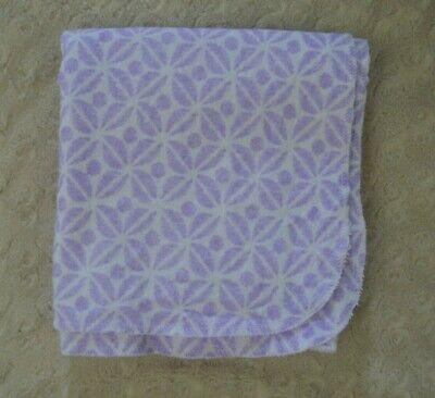 New NWT Carter Purple Polka Dot Bird 4 Pack Receiving Flannel Cotton Blanket Set