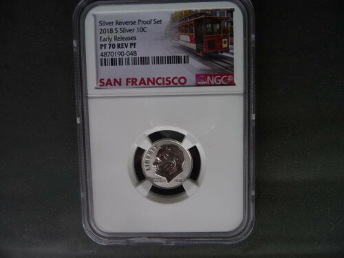 2018 s silver reverse proof Roosevelt dime NGC PF 70 Early Releases