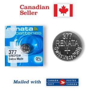 377 NEW! Renata Silver Oxide 1.55V Battery - 376, SR66, SR626SW, S32