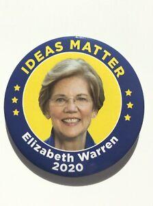 2020-Senator-Elizabeth-Warren-for-President-3-034-Button-034-Ideas-Matter-034-Pin