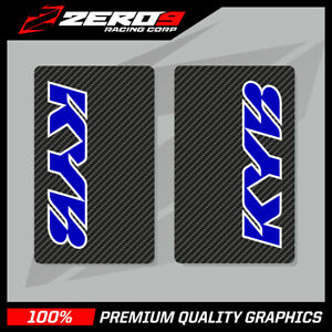 KYB-UPPER-FORK-DECALS-MOTOCROSS-GRAPHICS-MX-GRAPHICS-ENDURO-CARBON-BLUE