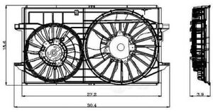 Engine-Cooling-Fan-Assembly-fits-2007-2009-Saturn-Aura-GLOBAL-PARTS
