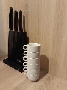 LOT 6 TASSES CAFE PORCELAINE PORVASAL SERVICE EXPRESSO BLANCHE IDE CADEAU VAISEL ZZQyzqDk-09121659-720746265