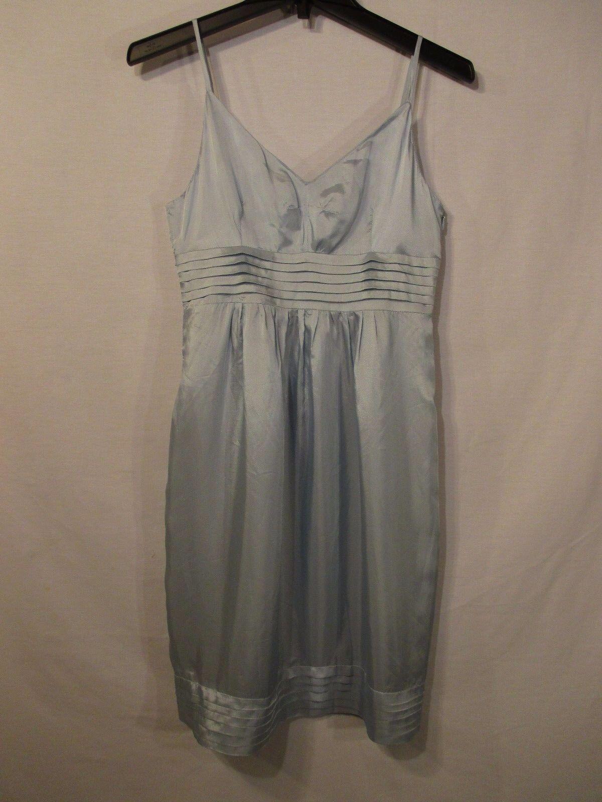 SEE BY CHLOE Light bluee Pleated Spaghetti Strap Sleeveless Sundress - Size 2