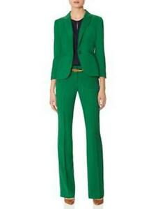 Green Women Pant Suits Ladies Business Office Formal Suits Groom Tuxedos Bespoke | EBay