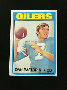 DAN PASTORINI ROOKIE TOPPS 1972 HOUSTON OILERS RC FOOTBALL CARD