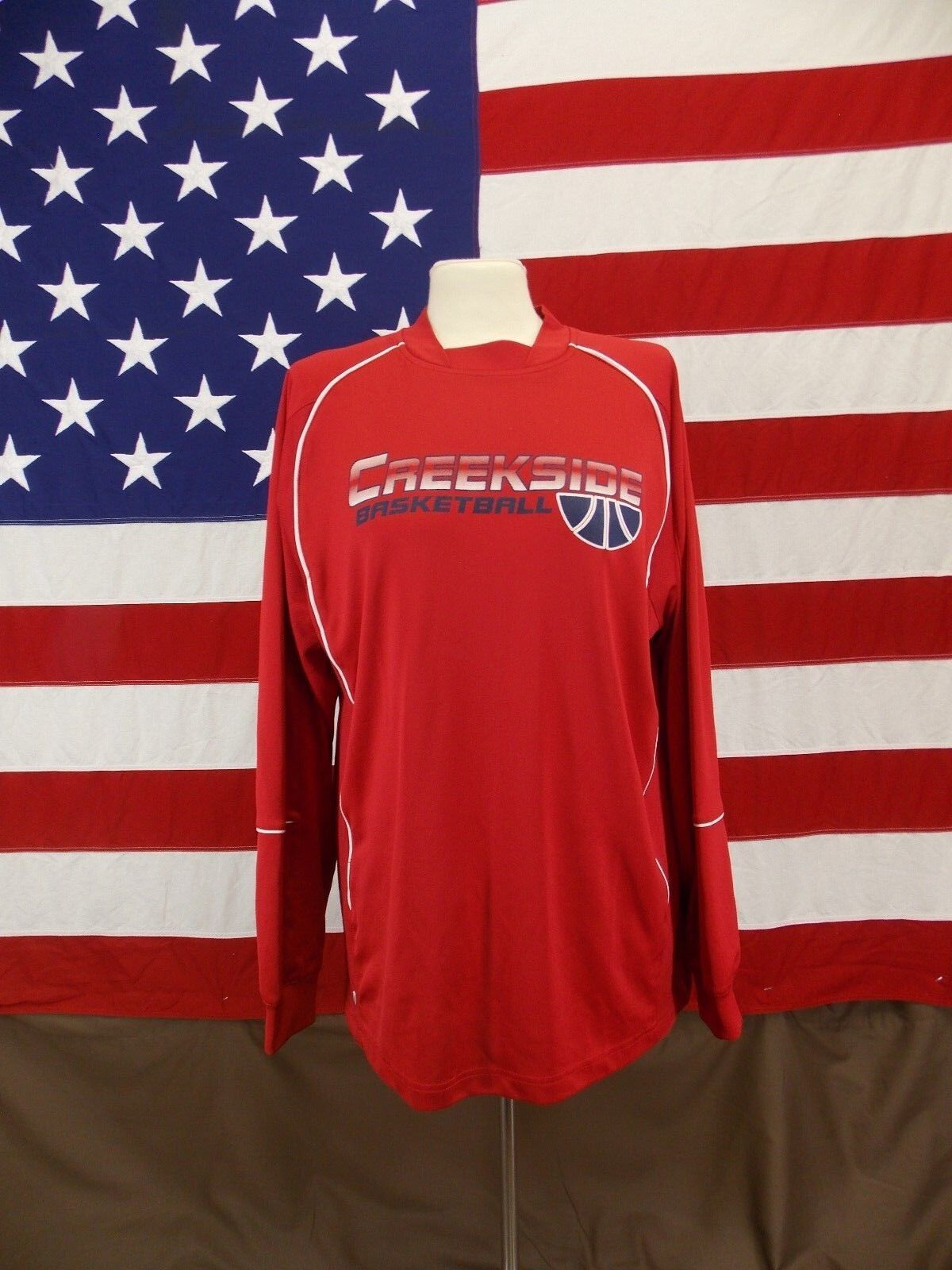 Holloway Shirt Mustangs Creekside Basketball Long Sleeved Men's Size M Red