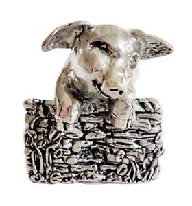 Cochon Looking Sur L' Sty Mural Étain Ornement - Main Fabriqué En Cornwall 0tvzijn9-07213307-277464712