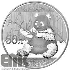 China - 50 Yuan 2017 - Panda - 150 gr. Silber in Polierter Platte