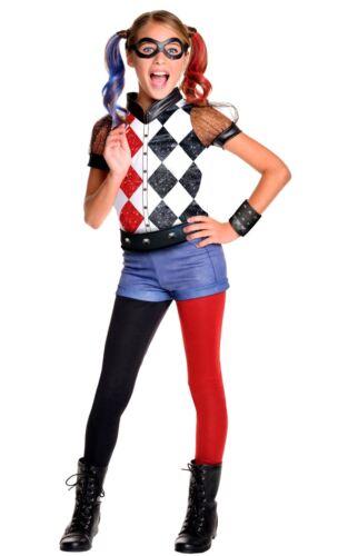 Officiel Filles Suicide Squad Deluxe Harley Quinn Costume Robe Fantaisie Livre Jour