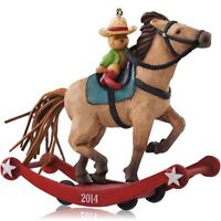 2014 Hallmark A Pony For Christmas Ornament 17th In Series Cowboy Teddy Bear