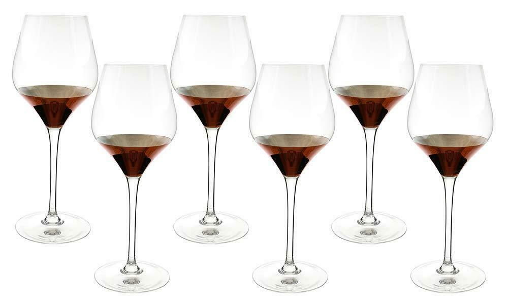 (D) CRYSTAL CLEAR LARGE TULIP Champagne Verres 6pc, Classic verrerie