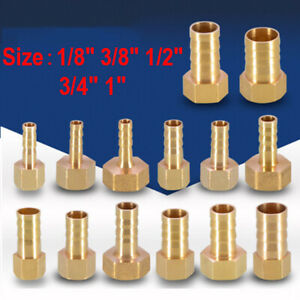 "BSP Brass Female 1//8/""-3//4/"" Thread Hose Connectors Barbed Connecting Hose tails"