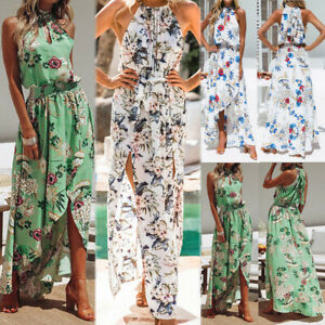 Women-Boho-Floral-Maxi-Dress-Sleeveless-Evening-Party-Summer-Beach-Sundress-CA