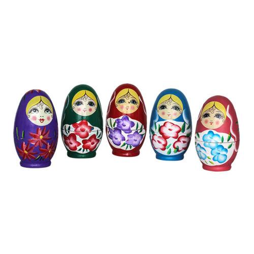 Russische Linde Matroschka Babuschka Nisten Holz Puppe Puppen Kinder Spiezeug