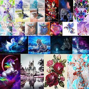 5D-Diamante-Lobo-Tigre-De-Bricolaje-Pintura-Bordado-Kits-De-Punto-De-Cruz-Decoracion-de-artesania