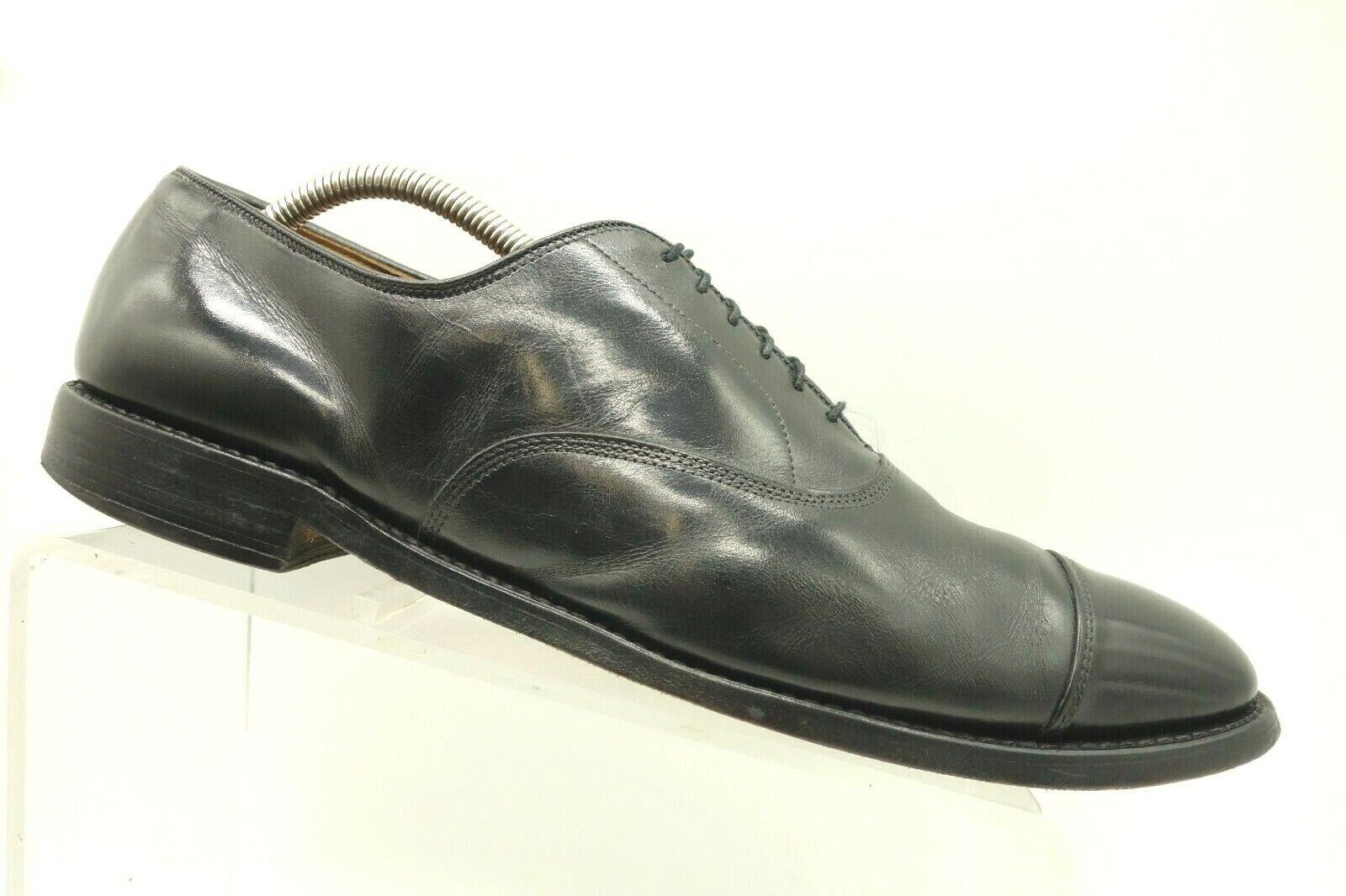 Allen Edmonds Park Avenue Black Cap Toe Lace Up Oxfords shoes Men's 11.5 A