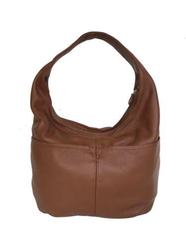 Schulter Slouchy Stilvolle Braune Hobo handtasche tasche Leder Aus 8APY4vwq