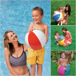Inflatable-Blow-Up-Beach-Ball-Pool-Party-Rainbow-Water-Play-Swim-Sand-Garden-Toy